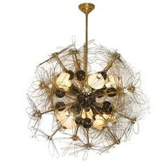 Extraordinary One-of-a-Kind Italian Whimsical Wired Flower Chandelier
