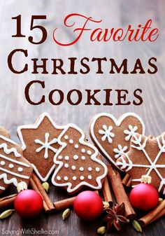 15 Fabulous Christmas Cookies to jump start your Holiday baking. #Cookies #Christmas