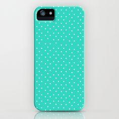 Little Blue Dots iPhone & iPod Case by Allyson Johnson - $35.00