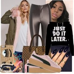 A fashion look from February 2016 featuring AX Paris, Puma sneakers and Gucci tote bags. Browse and shop related looks.