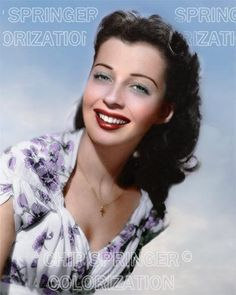 GAIL RUSSELL WEARING A FLOWERED DRESS BEAUTIFUL COLOR PHOTO BY CHIP SPRINGER. Featured Ebay Listing. Please visit my Ebay Store, Legends of the Silver Screen, at http://legendsofthesilverscreen.com to see the current listings of your favorite Stars now in glorious color! Thanks for looking and check out my Youtube videos at https://www.youtube.com/channel/UCyX926rA5x4seARq5WC8_0w