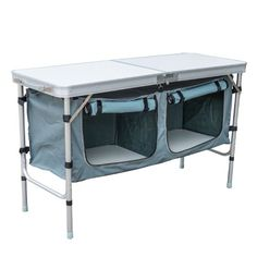 Outsunny Aluminum Camping Folding Camp Table with Carrying Handle and Storage Organizer, 47-Inch Outsunny http://www.amazon.com/dp/B00KJ16AXQ/ref=cm_sw_r_pi_dp_mtr9ub16DBA23