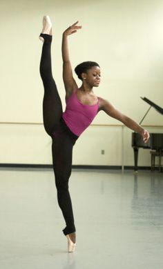 Michaela DePrince..she is from Sierra Leone, she dances beautifully!!