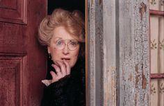 """Meryl Streep, as the grammar-obsessed crazy lady in """"Lemony Snicket's A Series of Unfortunate Events"""". Hilarious!"""