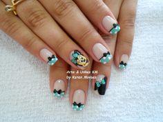nails Pedicure Designs, Toe Nail Designs, Nail Polish Designs, Toe Nail Art, Toe Nails, Mickey Mouse Nails, Minnie Mouse, Easter Nails, Disney Nails