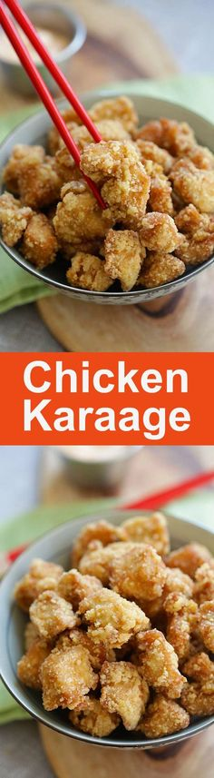 Chicken Karaage -  crispy Japanese fried chicken nuggets, the best chicken karaage recipe that is better than Japanese restaurants | http://rasamalaysia.com