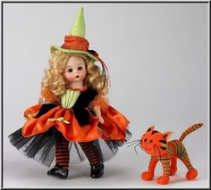 Witchy Wendy and Her Quirky Cat ~ Pretty 8  Doll By Madame Alexander!!!