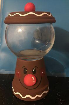 Christmas Candy, Homemade Christmas, Christmas 2019, Christmas Ideas, Christmas Crafts, Flower Pot Crafts, Clay Pot Crafts, Diy Clay, Flower Pots