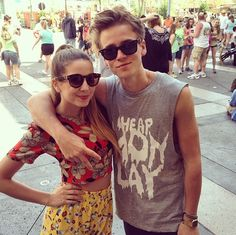 Zoe Sugg (Zoella) and Joe Sugg (ThatcherJoe) at Playlist Live 2014