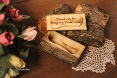Thank you for being my bridesmaid, custom log jewelry box