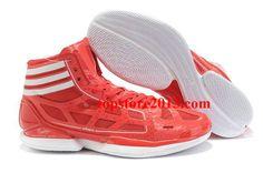newest c3455 50cc5 Adidas AdiZero Crazy Light Shoes University Red-White Hot Sale