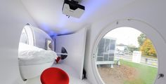 The student sleeping units are modern, mobile and fun