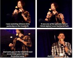 Hahaha gotta love J2!  (P.S. The man was probably disturbed by how much Jared has grown since then...)