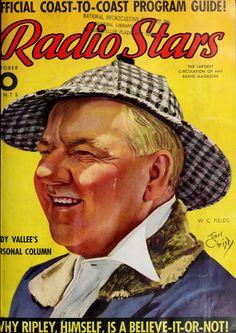 Radio Stars - 1937 - Portada: Retrato de W. C. Fields por Earl Christy