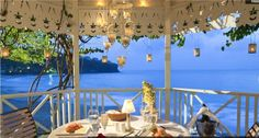 Top 20 Sandals Wedding Resort Location at Sandals LaToc in St Lucia. A beautiful Gazebo over looking the bluff over the ocean. Mitch Island Travel 847-885-7540 - Award Winning Certified Destination Wedding Expert  See Resort at http://www.romanticallinclusiveresorts.com/Sandals_Regency_St_Lucia.html