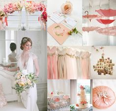 Beautiful shabby chic wedding in perfect peach shades