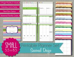 The Polka Dot Posie: How to Print Our Small Planner Sets