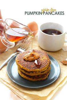 Get festive with your breakfast and make these delicious Paleo Pumpkin Pancakes that are grain-free, packed with pumpkin, and paleo-friendly!