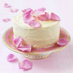 Try this delicious sugared rose petal cake recipe plus other recipes from Red Online. Best Birthday Cake Recipe, Cool Birthday Cakes, Slow Cooker Desserts, New Year's Desserts, Delicious Desserts, Pink Desserts, Baking Recipes, Cake Recipes, Dessert Recipes