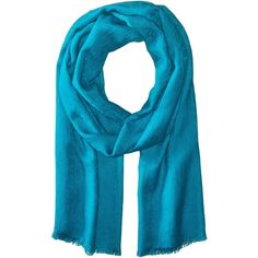Calvin Klein CK Logo Pashmina (Lagoon) Scarves ($23) ❤ liked on Polyvore featuring accessories, scarves, blue, calvin klein, blue shawl, calvin klein scarves, blue scarves and viscose scarves