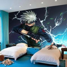 Naruto Kakashi Photo Wallpaper Cartoon anime Wallpaper Custom Wall Mural Boys Bedroom Kids Room decor Classic Home Decoration-in Wallpapers from Home Improvement on Aliexpress.com | Alibaba Group