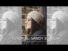 Sandy Slouch Tutorial: Crocheting the Button Flap (Rounds 21-end) - YouTube