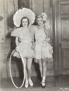 Joan Crawford and Constance Bennett