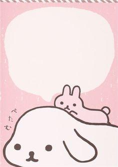 Japanese white San-X Mofutans Mochi rabbits Note Pad 5
