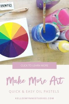 Stop saying you don't have time! Oil pastels are a great solution because you can create rich, painterly pieces anywhere and anytime with only pastels and paper. See this course and more at Kellee Wynne Studios. #colorwithkellee LIVE every Tues at 2pm 🤗 Don't miss the $27 color course available now! 🌈#kelleewynnestudios #artcourse #artcoursesonline #artpainting #originalart #originalartwork #learntopaint #oilpastels #makemoreart #creativeartwork Color Wheel Lesson, How Do You Clean, Making Excuses, Art Courses, Mixed Media Artwork, Creative Artwork, Oil Pastels, Large Painting, Learn To Paint