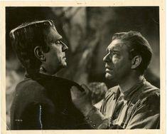 Frankenstein Meets the Wolf Man Original Vintage Photo Still 2 @ niftywarehouse.com #NiftyWarehouse #Frankenstein #Halloween #Horror #HorrorMovies #ClassicHorror #Movies