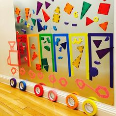 Toddler School, Toddler Classroom, Classroom Board, Classroom Decor, Hands On Activities, Sensory Activities, Sensory Wall, Transportation Theme, Magnetic Wall