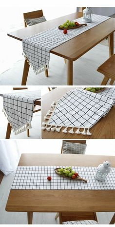 Dining Table Cloth, Table Linens, Cushions To Make, Diy Casa, Lace Table Runners, Diy Curtains, Apartment Interior, Table Covers, Home Textile