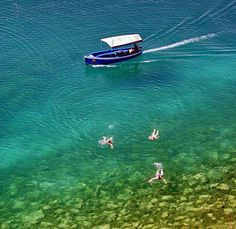Ohrid, Macedonia---yes the water really is that clear. And I've been on one of those boats!