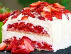 Strawberry cheese cake icebox cake