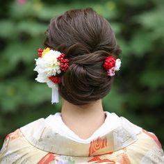 Hat Hairstyles, Braided Hairstyles, Wedding Hairstyles, Wedding Kimono, Japanese Wedding, Graduation Hairstyles, Hair Arrange, Japanese Hairstyle, Wedding Hair Accessories