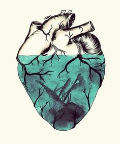 Corazón Inundado Heart Art