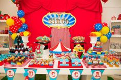circus theme 1st birthday invitations | Circus Birthday Party via Kara's Party Ideas | KarasPartyIdeas.com # ...