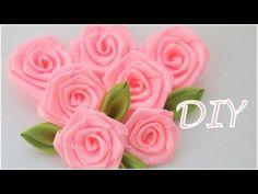 В этом видео показано как сделать розы из атласных лент - простой и быстрый способ This video shows how to make the roses of satin ribbons - simple and fast way
