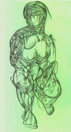 gesture drawing rendered