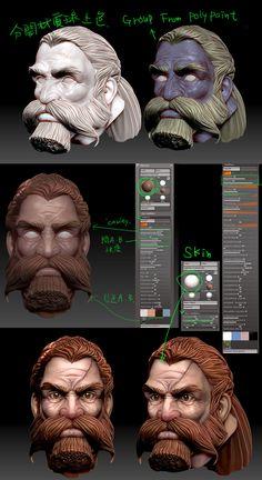 Dwarf color for ZB| maya and zbrush references | digital media arts college | www.dmac.edu | 561.391.1148