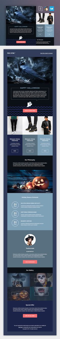 Halloween Email Template - download freebie by PixelBuddha                                                                                                                                                                                 More