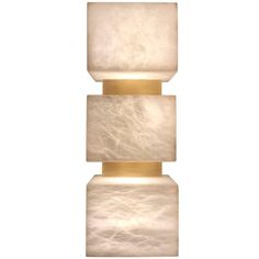 Scatola Wall Sconce in Italian Alabaster and Brushed Patinated Brass
