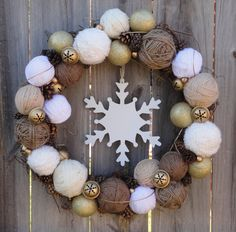 neutral winter wreath
