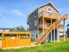 The Sea and The Sun, 4 bedroom Semi-Ocean Front home in Salvo, OBX, NC