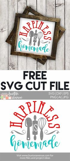 Free SVG files for Cricut & Silhouette   Kitchen Room SVG Files