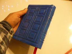 How to make a TARDIS book cover.  On inside, reasons why doctor who is inspiring. 11 is proud of the things he thinks are cool regardless of the opinions of others