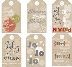Etiquetas Navideñas para imprimir - Christmas tags (spanish) printable.