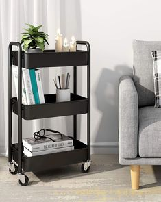 (This is an affiliate pin) CAXXA 3 Tier Rolling Storage Organizer