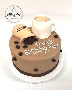 Elegant Birthday Cakes, Themed Birthday Cakes, Themed Cakes, Coffee Cake Decoration, Kreative Desserts, Birthday Cake Decorating, Novelty Cakes, Occasion Cakes, Cake Shop