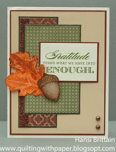 1000 images about su acorn builder punch on pinterest for Huntington card designs